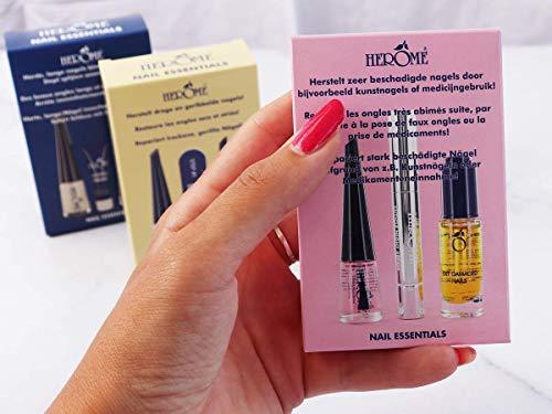Herome Nail Essentials Kit de Manucure (Rose) -Soin Réparateur pour les Ongles Cassés après des Faux-Ongles- Avec Huile pour Ongles Abîmés, Sérum pour Cuticules et Durcisseur pour Ongles