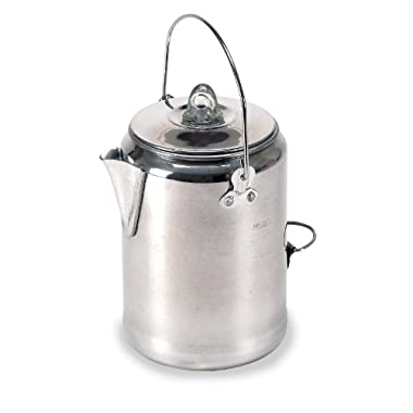 Stansport Aluminum Percolator Coffee Pot, 9 Cups