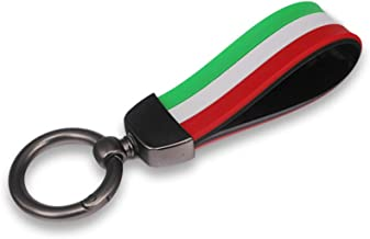 GTINTHEBOX Italian Flag Soft Silicone Strap with Keychain Ring for Alfa Romeo Fiat Ferrari Maserati Lamborghini Porsche BMW etc