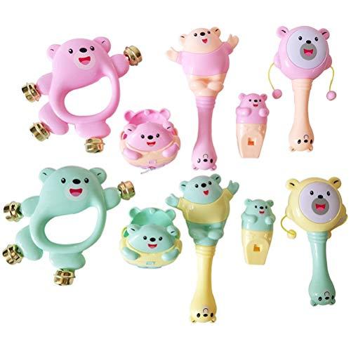 Willekeurige kleur 5 stuks/set schattige cartoon baby rammelen speelgoed pasgeborenen handklokken baby speelgoed kleine kinderen oorbellen sensory speelgoed zoals afgebeeld