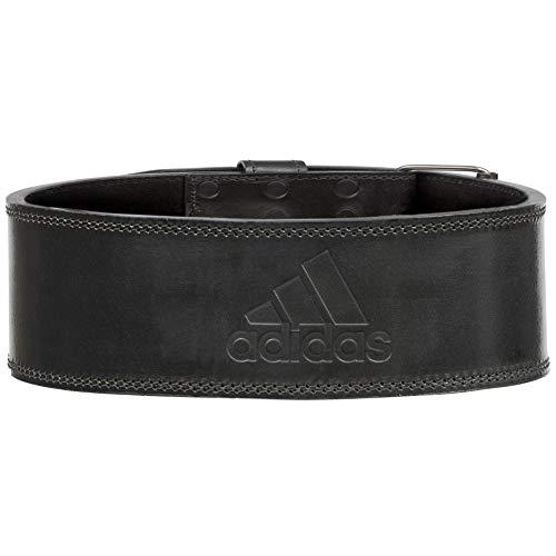 adidas Unisex-Adult Leder-Gewichthebergürtel, Schwarz, M