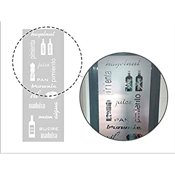TOKPERSONAL vinilos para Cristales Cocina Kitchen 22N - Objetos ...