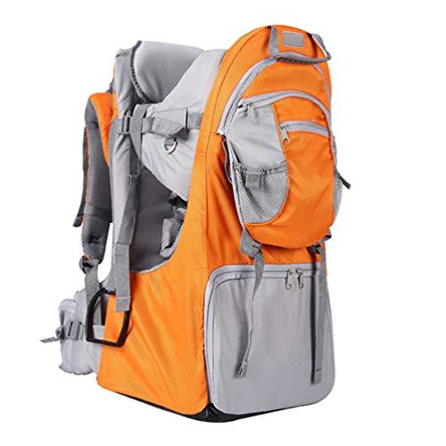 Mochila-Porta-Bebé para Bebés y Niños de hasta 25 Kg Gran Comodidad para Senderismo Trekking Viajes Portabebés,Naranja