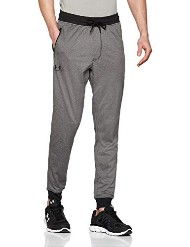 Under Armour Sportstyle Tricot Jogger, Pantaloni Uomo, Carbon Heather/Black, M