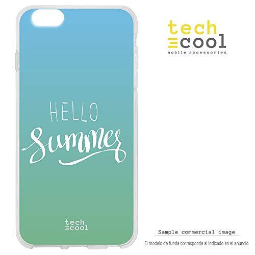 Funnytech® siliconen beschermhoes voor Alcatel Pop 4, 5 inch (12,7 cm) [siliconengel, flexibel, exclusief design] motief Hello Summer achtergrond