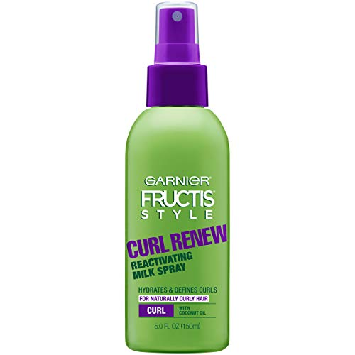Garnier Fructis Style Curl Renew Reactivating Milk Spray For Curly Hair, 5 Ounce (Packaging May Vary)