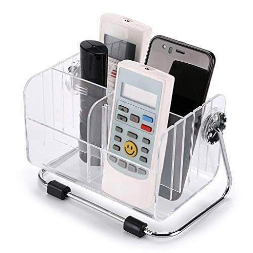 BSITFOW 6-Slot Clear Acrylic Home Desk Tv Air-Conditioner Remote Control Storage Holder Organizer Stand, Transparent