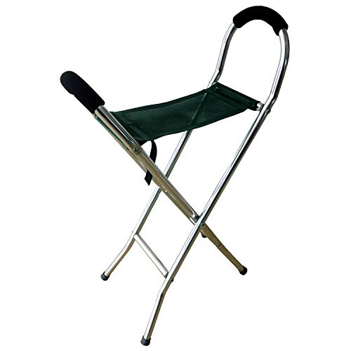 Netagon - Taburete ligero plegable y portátil, ideal para senderismo, camping, pesca, color verde