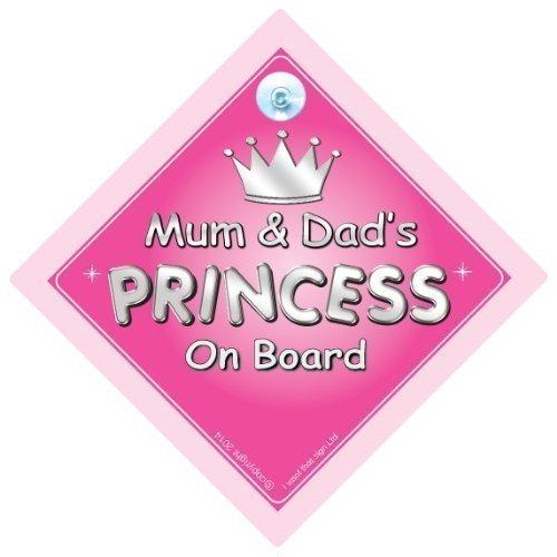 Mum & Dad de Princesse Sur le Board, mère, Princesse sur planche, Princesse, signe voiture Panneau, panneau bébéà bord, bébéà bord, nouveauté voiture Panneau, signe pour voiture (730)