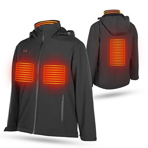 DOACT Uppvärmd väst jacka, värmetskläder för kvinnor och män, tvättbar elektrisk kroppsvärmare USB-laddning under kall vinter för motorcykel, utomhusaktiviteter, jakt, camping, vandring, skidåkning
