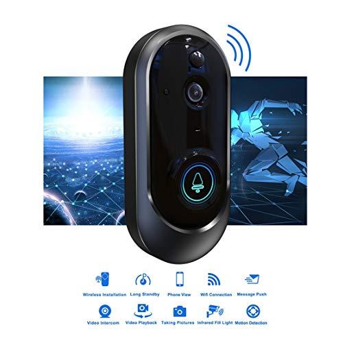 Mele & Co Timbre de WiFi Smart doorbell 720P HD inalámbrico, Timbre de la cámara de Seguridad en Tiempo Real, detección de Movimiento PIR y Control Remoto de Aplicaciones para iOS y Android