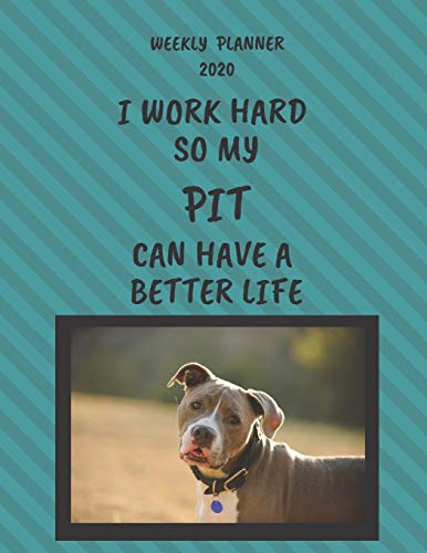 Pit Weekly Planner 2020: Pit Lover Gifts Idea For Men & Women - Funny Weekly Planner   I Work Hard So My Pit Can Have A Better Life   With To Do List & Notes Sections
