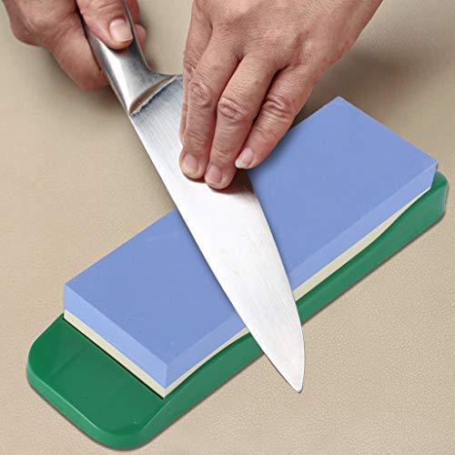 Fasclot Premium Whetstone Sharpening Stone 1000/3000 Knife Sharpener with Rubber Holder