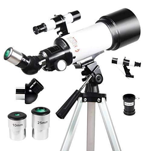 Los Estudiantes Principiantes Telescopio Astronómico, Niños 40070 Travel Scope, 120X Ampliación Telescopio De Refracción con Ajustable Trípode Adaptador De Teléfono-40070