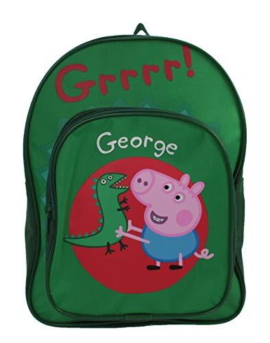Navidad Peppa Pig George Arch Backpack - Bolso de Hombro Escolar para niños
