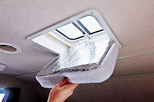 Camco RV Vent Insulator And Skylight Cover With Reflective Surface, Fits Standard 14' RV Vents (45192)