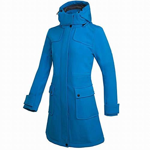 Regenmantel Damen Winter Weiche Shell Winddicht Fleece Warme Lange Wandern Skifahren wasserdichte Outdoor Atmungsaktiv Anti-Uv-Jacke-C_M