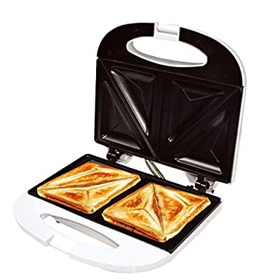 Uniware High Quality Sandwich Maker with Case, ETL Certified, Non-Stick Coating Plate, Cool Touch Housing, with Thermostat, Makes Sandwich, Omelettes, Grilled Cheese and more (Style 2)