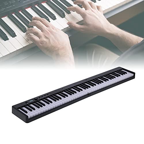 Gaeirt Piano electrónico Plegable, teclados de Piano electrónicos Hechos en proporción 1: 1 Plegables con Modo de enseñanza para Principiantes para Interiores(Black, Pisa Leaning Tower Type)