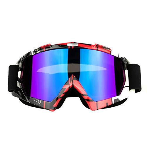 MSYOU Lunettes de Motocross, Casque de Motocross, Coupe-Vent, Protection Contre Les UV, Lunettes de Soleil, Lunettes de Ski, Snowboard, Verres Violet #B