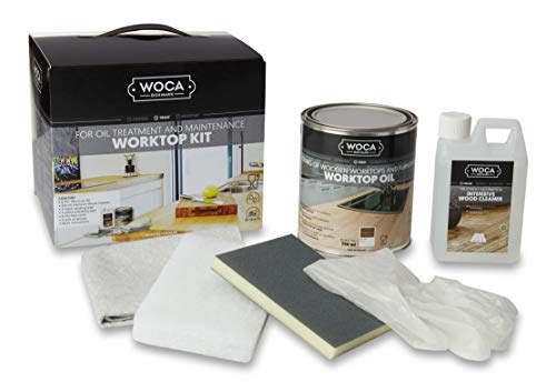 WOCA WORKTOP KIT Arbeitsplatten-Set, Intensivreiniger 1,00 Liter