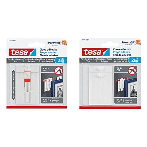 tesa Te77777-00001-00 Sms Clavo Adhesivo Ajustable Hasta 2Kg Para Pared Pintada + 77776-00001-00 77776-00001-00-Smart Mounting System Removíbles Sms Clavo Adhesivo