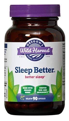 Oregon's Wild Harvest, Sleep Better, Certified Organic Herbal Sleep Aid with Valerian and Skullcap, 90 Count