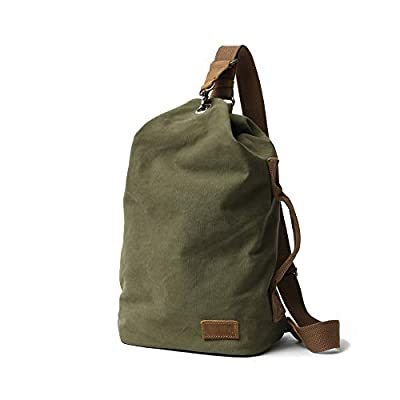 Zg Canvas Leather Shoulder Bags Crossbody Chest Bags for Women & Men Unisex Traveling Casual