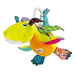 MAGICAL DRAGON - The Flip Flap Dragon is ready for a magical flight. Just pull on his chord and see his wings flap up and down, taking your baby on a magical journey. Flip Flap is so soft, perfect for tacitile stimulation and endless cuddles. SENSORY...