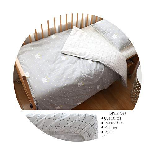 Suzanne Betty Parure de lit pour bébé nordique en coton avec tour de lit pour bébé avec motif couronne 5
