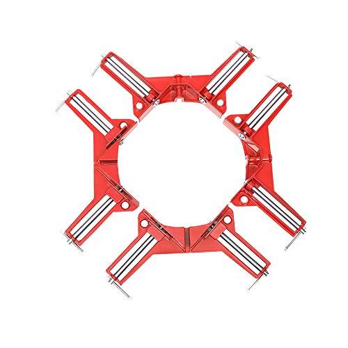 Abrazadera de ángulo Meichoon 4 piezas abrazadera de esquina de 90 grados herramienta de mano multifunción soporte de marco de imagen DIY soporte de carpintería, DF13