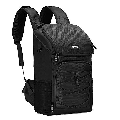 Easthills Outdoors Backpack Cooler 32 cans Lightweight Insulated Leak-Proof Lunch Cooler Backpack with Hip-Belt Straps for Men & Women to Picnics, Camping, Hiking, Beach, Park or Day Trips, Black