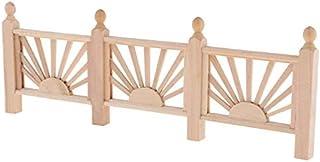 1/12 Dollhouse Miniature Yard Wooden Barrier Handrail Fence DIY Garden Decor New