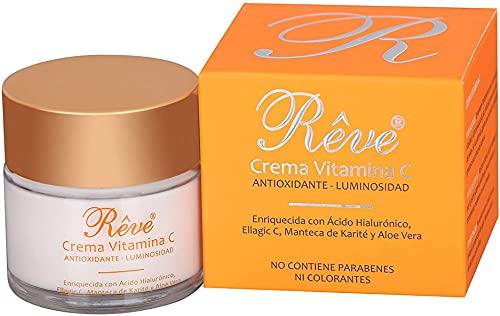 REVE Crema Facial Hialurónico y Vitamina C - Antioxidante,