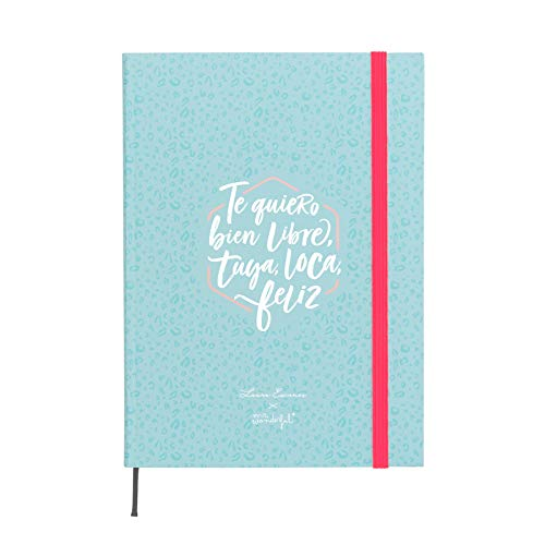 Mr. Wonderful semanal Laura Escanes & Mr. Wonderful, Azul, Medidas del planificador: 15 x 21