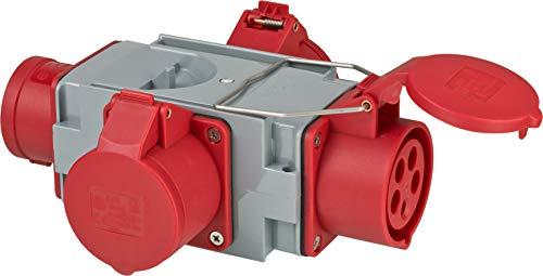 Brennenstuhl CEE Adapter Stromverteiler IP44 (1x CEE Stecker 400V/16A & 3x CEE Steckdosen 400V/16A) für Baustelle