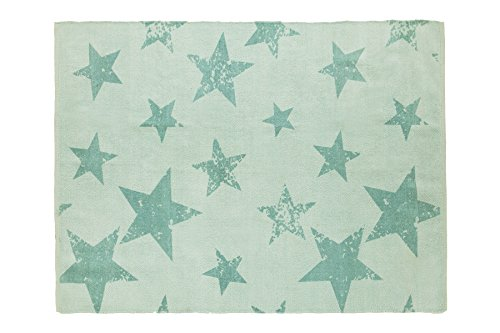 Lorena Canals C/PACK-VSTIO+CJ Vintage Star Jade (tapijt + kussen)