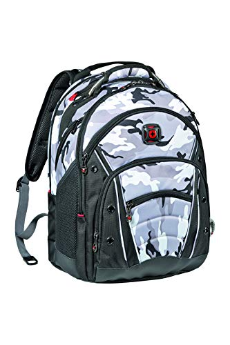 Wenger 605036 Synergy 16' Backpack with Shock Absorbing Shoulder Straps In Grey Camo {30 Litres}