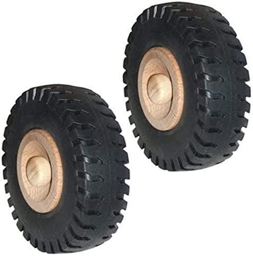 WAGNER Holzrad/Ersatzrad/Traktorrad / 2tlg. Set - Holz/Kunststoff, Durchmesser Ø 72 mm, inkl. Holzsteckstift - 01607102