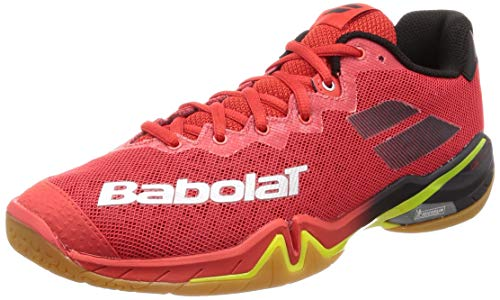BABOLAT Shadow Tour Men, Chaussures de Badminton Homme, Rouge, 43 EU