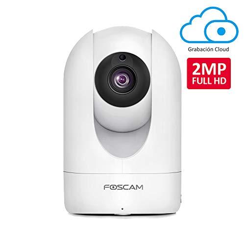 Foscam R2M 2MP Cámara IP WiFi, Seguridad, AI Detección Humana, Visión Nocturna, Compatible con Alexa, (P2P, 1080p, ONVIF)