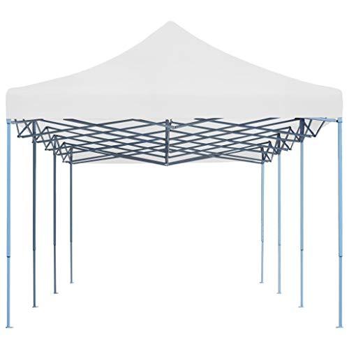 Festnight All Seasons Gazebos Robusto Tenda Pieghevole Pop-Up 3x9 m Rivestimento in PVC Impermeabile Gazebo da Giardino Esterno