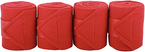 Harry's Horse Bandages Fleece 3m, 4 st, Farbe:rot