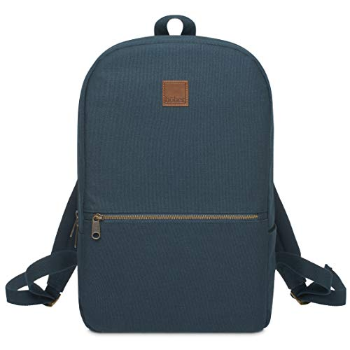 Hoher Water Resistant 12 oz Canvas Backpack, Padded 15.6' Laptop Pocket. Slim Design. Brass YKK zips. Bottle Holder.