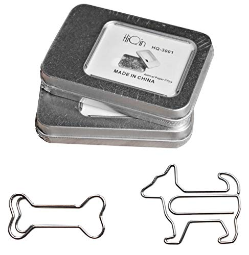 Paper Clips Bookmarks Dog Loves Bone, Cute Office Supplies, Gifts Idea, 2 Tins Value Pack
