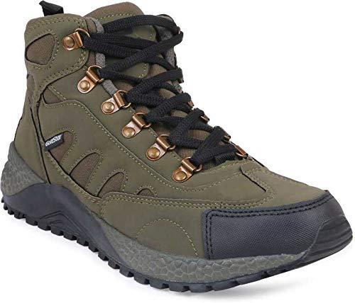 Goldstar Men's Olive Hiking Shoes -8 UK