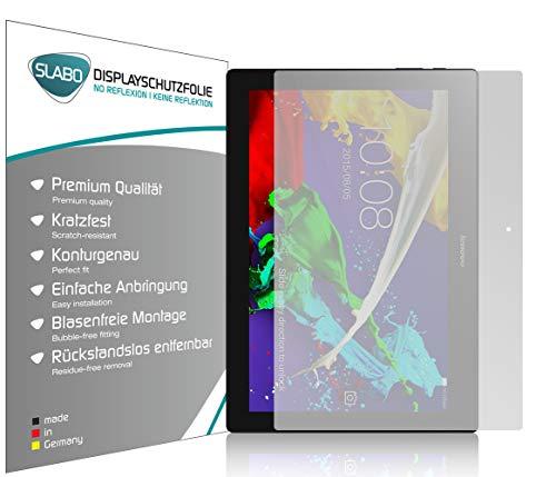 Slabo 2 x Bildschirmschutzfolie für Lenovo Tab 2 A10-30 Lenovo Tab 2 A10-70 Bildschirmschutz Schutzfolie Folie No Reflexion Keine Reflektion MATT - Entspiegelnd Made IN Germany