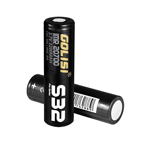 GOLISI S32 20700 Batteries 3200mAh 30A for Ecig Vape - Pack of 2