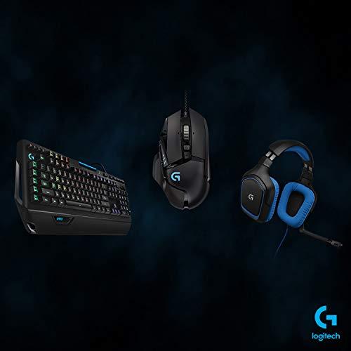 Logitech G910 Orion Spectrum mechanische Gaming-Tastatur, Taktile Romer-G Switches, RGB-Beleuchtung, 9 Programmierbare G-Tasten, Anti-Ghosting, ARX-Zweitbildschirm Feature, Deutsches QWERTZ-Layout