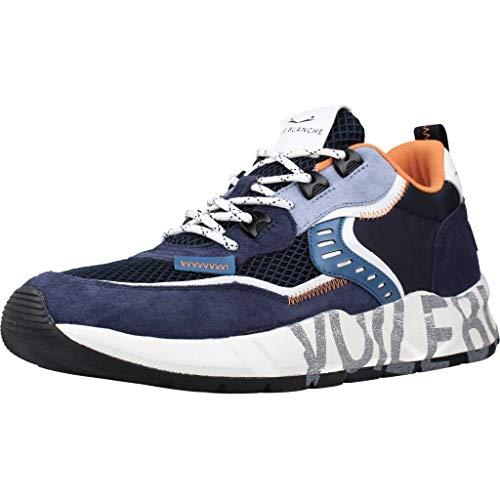 VOILE BLANCHE CLUB01-Sneaker in Suede e Tessuto Tecnico Blu 41